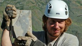 Michael Streng med fossil