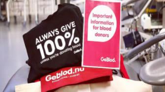 Stort intresse för blodgivning på engelska