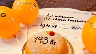 Sala Sparbank firar sin 193-årsdag med att ge 1,5 miljoner till 37 olika initiativ som skapar lokal och hållbar växtkraft.