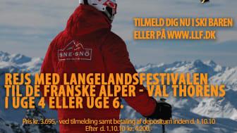 Rejs med Langelandsfestivalen på skitur i uge 4