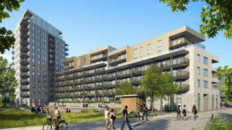 Säljstart för 99 lägenheter i Riksbyggens Brf Kaprifolen i Kungälv