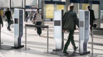 Med Evolv Edge kan 600 personer per timme passera säkerhetskontrollen.