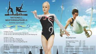 SM 2013 i artistisk gymnastik  i Åkeshovshallen den 10 maj kl 17 - 20 med Jonna Adlerteg och Ida Gustafsson