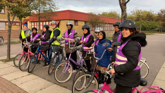 Kursavslutning cykelskolan