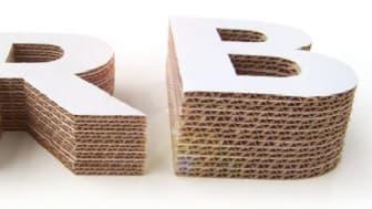 Konvertering fra R til B flute betyder 27% mindre materiale.