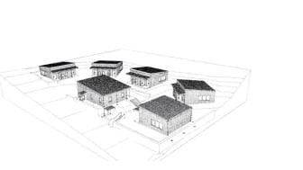 Tegning av boligene i Ljabruveien 157-159