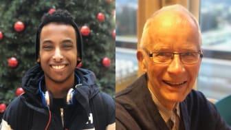 TRYGGHET: For Abdullahi (16) og Rolf (87) står trygghet sterkt i fokus. De bor begge i Bydel Stovner.