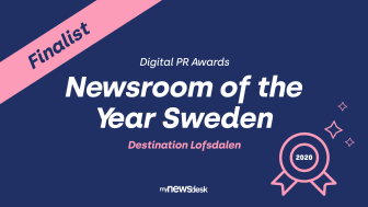 "Destination Lofsdalen finalist i ""Newsroom of the year"""