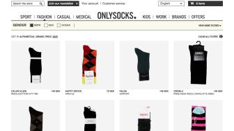 Onlysocks.com – alla strumpor i en butik