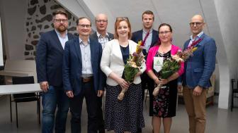 Kuvassa vasemmalta oikealle: Jussi Uotila, Ari Mäkelä, Antti Rantalainen, Anu Tieaho, Elmeri Linnera, Sanna Metsänoro ja Max Gylling.