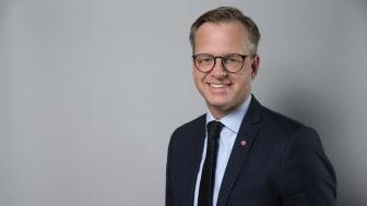 Mikael Damberg, närings- och innovationsminister (s) deltar i Nordic ConTechs seminarium i Almedalen.