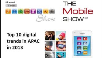 Top 10 digital trends in APAC in 2013