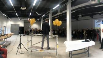 Invigning Konstverket i Telestaden