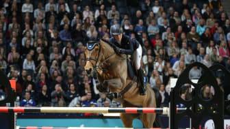 Irma Karlsson och Ida van de Bisschop var fjärdeplacerade i Sweden Grand Prix i Friends Arena förra året. I år kommer Irma tillbaka med ett mycket framgångsrikt år i ryggen. Foto: Roland Thunholm