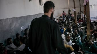 Förvaret Abu Salim i den libyska huvudstaden Tripoli. Foto: Guillaume Binet/Myop