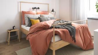 Illustration av interiör, sovrum, BoKlok-lägenhet 4 rok, 2021.