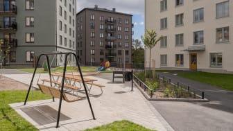 Kvarteret Ledinge i Tensta. Fotograf: Gustav Kaiser.