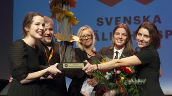 Kunskapscentrum för jämlik vård tar emot Svenska Jämställdhetspriset