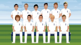 England Men's Best XI squad - picture produced for the Test match programme