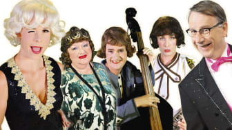 Musikalen Sugar/ I Hetaste laget fr v Marianne Mörck, Adde Malmberg, Birgitta Rydberg, Robert Rydberg. Sven Melander