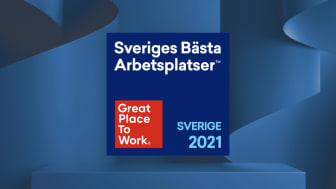 För åttonde året i rad har Tre utsetts till en av Sveriges tio bästa arbetsplatser när Great Place to Work presenterar sin årliga lista.