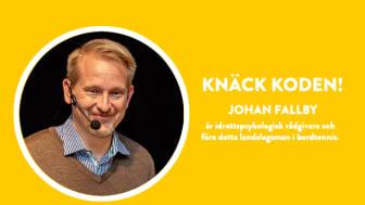 Johan Fallby, idrottspsykologisk rådgivare
