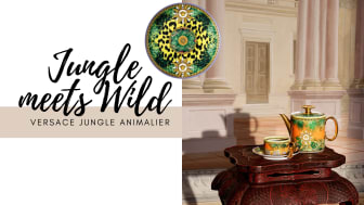 Vivid colours and exotic prints give Versace Jungle Animalier an eyecatching look.