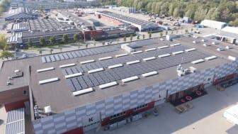 2100 kvm solceller på taget af TEC i Hvidovre.