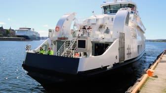 Prinsen er nylig ankommet Oslo etter ombygging til elektrisk drift i Horten.