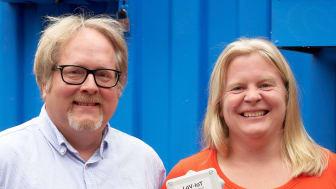 Lars Samuelsson, IT-strateg miljöförvaltningen Göteborgs Stad, och Ågot Watne, projektledare LoV-IoT miljöförvaltningen Göteborgs Stad. Foto: Ulrik Fallström