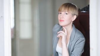 Emma Sventelius gjorde hösten 2017 sin internationella debut på Deutsche Oper am Rhein i Düsseldorf i rollen som Suzuki i Madame Butterfly. (Foto: Linda Otterstedt)