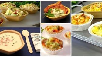 Füllett, die knusprigen, bio-vegan gebackenen Schalen für Fingerfood -Snacks, für Suppen, Pfannengerichte, Salate, Aufläufe uvm.