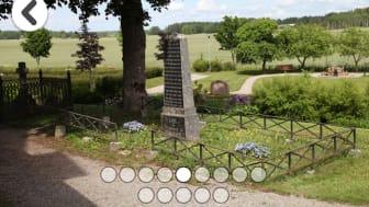 Märtha Gahn ligger begravd i Gahns familjegrav på Fellingsbro kyrkogård. Foto ur Kultur Lindesberg-appen