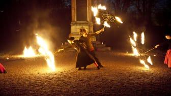 Ljusmagi i höstmörkret i Skoklosters slottspark på höstlovet. Foto: Jens Mohr