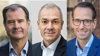Mårten Lija, vice vd Riksbyggen, Arturo Arques, privatekonom Swedbank och Jonas Högset, fastighets- och hållbarhetschef på Sveriges Allmännytta.