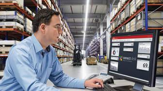 """Den omfattande fleet management-lösningen """"connect"""" finns nu tillgänglig för alla truckar – och fungerar även på maskiner från tredjepartstillverkare."""