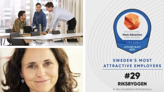 Riksbyggen lyfter i raketfart på listan över Sveriges Mest Attraktiva Arbetsgivare