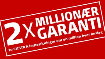 Tre nye Lottomilionærer i Hillerød, Nakskov og Roskilde