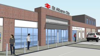 St Albans station £5.7 million redevelopment: artist's impression of new station entrance