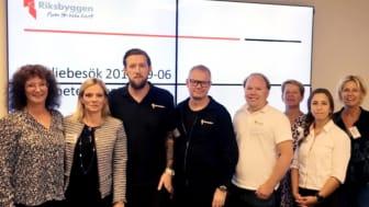 Representater för Riksbyggens olika avdelningar inom Fastighetsförvaltningen och representanter för Kompetenscenter, Göteborgs Stad, var på plats under studiebesöket.