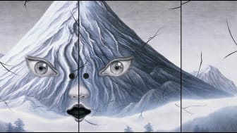 Tomoko Konoike, Förborgat berg – dörrmålning (Hidden Mountain – Fusuma Painting) 2008. Courtesy of the Artist & Mori Art Museum