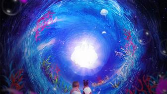 Den kosmiska havsträdgårdspassagen. Illustration: Johanna Kallin.