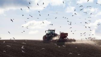 Höstsådd av vete, lantbrukare vid Tegelberga, Alstad, Skåne (Scania), Sverige (Sweden).   Photo: News Øresund - Johan Wessman