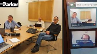 Christian Larsson från Parker Hannifin tyckte att den digitala matchmakingen fungerade väldigt bra.
