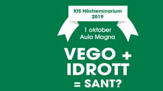 Höstseminarium: Vego + Idrott = Sant?