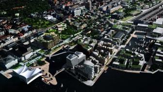 Framtidens Helsingborg C - med planerad bebyggelse