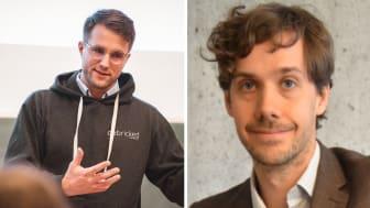 Emil Wåreus från Debricked och Johan Tordsson från Elastisys