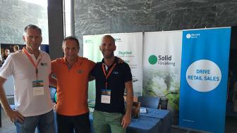 Mats Nilsson Solid Försäkring, Håkan Rosenqvist Cycleurope och Daniel Högfeldt Resurs Bank var på plats under Cycleuropes årliga mässa.