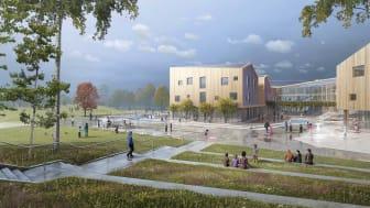 Torslanda skole - Gøteborg, konkurranse vunnet av LINK arkitektur