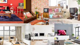 Un nuovo rapporto di Sony racconta l'impatto esercitato nel corso dei decenni dalla TV sul soggiorno di casa